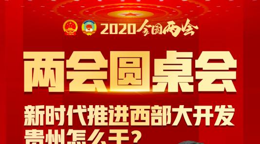 两会圆桌会 | 新时代推进西部大开发,贵州怎么干?