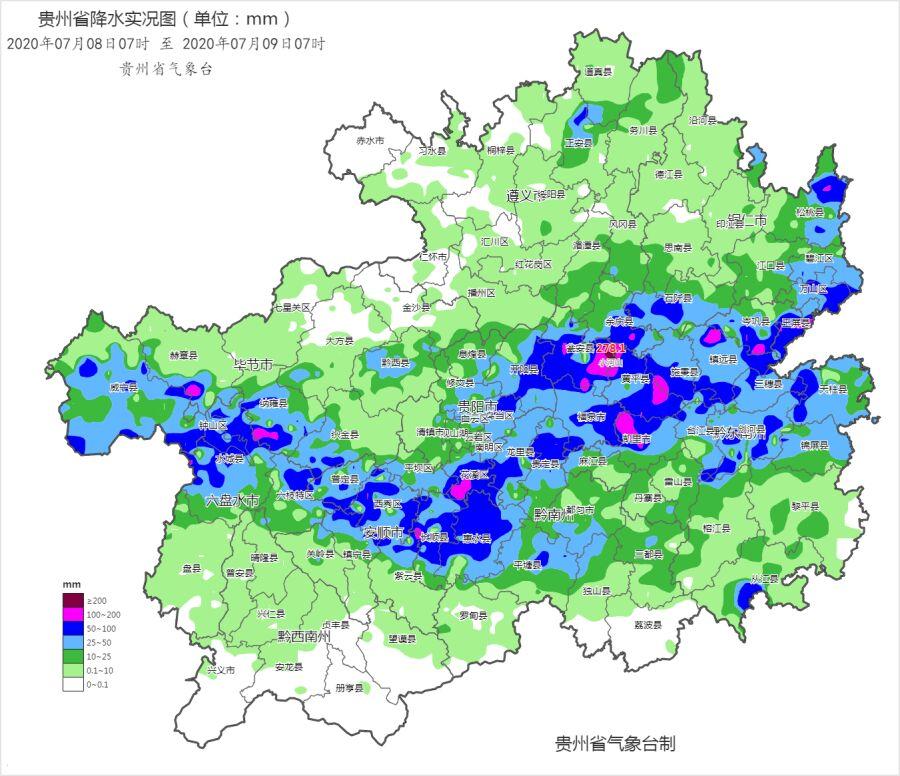 昨日今晨特大暴雨在瓮安!贵州18县大暴雨!今天个别乡镇还有大暴雨!