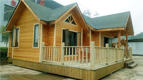 厂区内展示的木结构房子