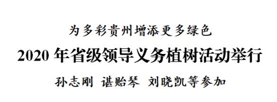 2020年省級領導義務植樹活動舉行,孫志剛 諶貽琴 劉曉凱等參加