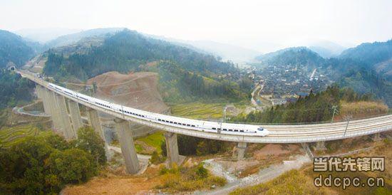 最美自然与高铁风景摄