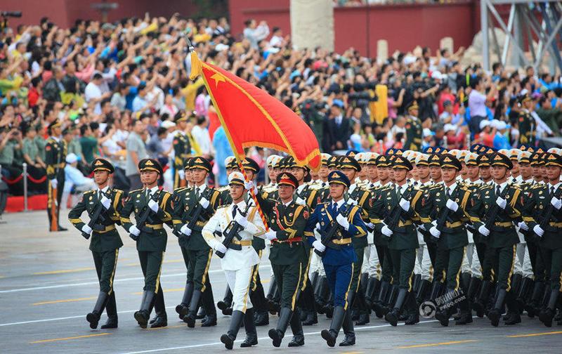 纪念中国人民抗日战争暨世界反法西斯战争胜利70周年大会专项演练图