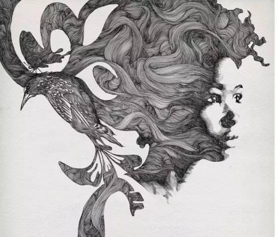 【手绘】优雅创意手绘时装画