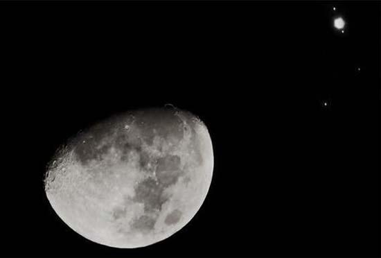 月亮和木星都将