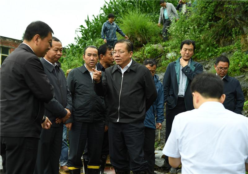 秦如培赴毕节市视察汛情和检查防汛救灾工作