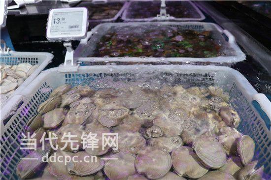 盒马鲜生内水产区海鲜