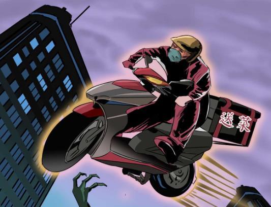 送出第五张屏保:穿越病毒封锁的骑手,多加保重!